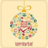 De vakantieachtergrond van het nieuwjaar Stock Foto's