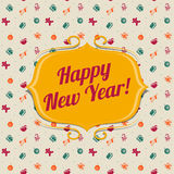 De vakantieachtergrond van het nieuwjaar Stock Foto