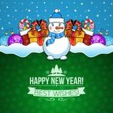 De vakantieachtergrond van het nieuwjaar Royalty-vrije Stock Foto's