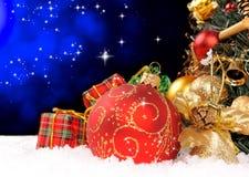 De vakantieachtergrond van Kerstmis Stock Foto's