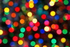 De vakantieachtergrond van Kerstmis met glanzend klatergoud Stock Foto