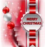De vakantieachtergrond van Kerstmis met lint Royalty-vrije Stock Foto