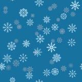De vakantieachtergrond van Kerstmis met sneeuwvlokken De winterpatroon Stock Foto