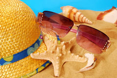 De vakantieapparatuur van de zomer Stock Foto's