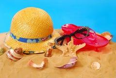 De vakantieapparatuur van de zomer Stock Foto