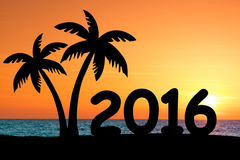 de vakantieconcept van 2016 stock fotografie