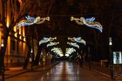 De vakantiedecoratie van Tirana stock afbeelding