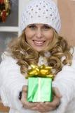 De vakantiegift van Kerstmis, heden Royalty-vrije Stock Foto