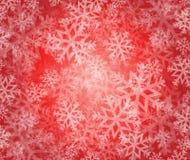 de vakantieillustratie van de sneeuwvlokwinter Stock Fotografie