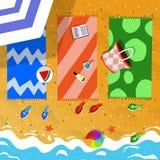 De vakantieillustratie van het de zomerstrand Royalty-vrije Stock Afbeeldingen