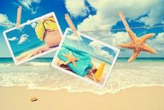 De Prentbriefkaaren van de zomer royalty-vrije stock afbeelding