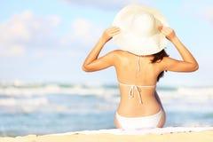 De vakantievrouw van de zomer Stock Fotografie