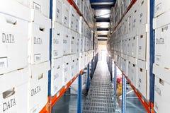 De vakjes van gegevens rijen Stock Foto's