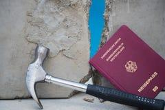 De val van Berlin Wall, de dag van Duitse eenheid Royalty-vrije Stock Afbeeldingen