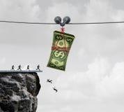 De val van het geld Stock Afbeeldingen
