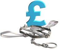 De val van het pond Sterling vector illustratie