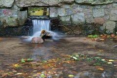 De val van het water van een kreek stock afbeeldingen