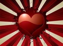 De valentijnskaart explodeert Royalty-vrije Stock Fotografie