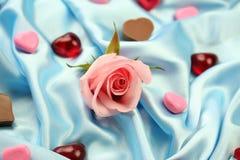 De valentijnskaart nam - Liefde toe Royalty-vrije Stock Foto's