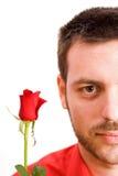De valentijnskaart nam toe Stock Foto's