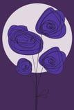 De valentijnskaart van de bloem of verjaardagskaart Stock Afbeelding