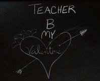 De Valentijnskaart van de leraar Royalty-vrije Stock Foto's