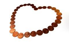 De Valentijnskaart van de Liefde van het geld royalty-vrije stock afbeeldingen