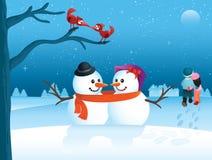 De Valentijnskaart van de winter Stock Foto's