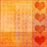 De valentijnskaart van Grunge Stock Illustratie