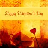 De valentijnskaart van Grunge Stock Afbeeldingen