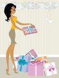 De valentijnskaart van het Boe-geroep van Mss Stock Afbeelding