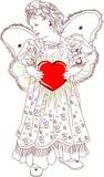 De valentijnskaart van het hart Stock Illustratie