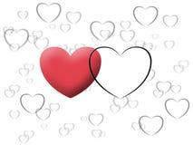 De valentijnskaart van het liefdehart illustreert beeld Stock Foto