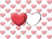 De valentijnskaart van het liefdehart illustreert beeld Stock Foto's