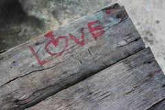 De valentijnskaart van het liefdekarakter Royalty-vrije Stock Foto