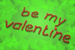 De Valentijnskaart van het lieveheersbeestje Stock Afbeelding