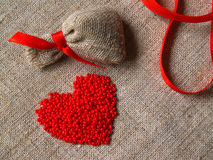 De valentijnskaart van parels Stock Foto