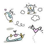 De valentijnskaart van pinguïnen Royalty-vrije Stock Fotografie