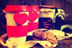 De valentijnskaartdag van de paarkoffie Royalty-vrije Stock Afbeelding