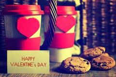 De valentijnskaartdag van de paarkoffie Royalty-vrije Stock Fotografie