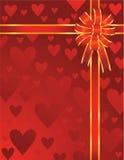 De valentijnskaarten buigen stock illustratie