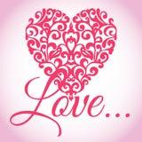 De valentijnskaarten houden Hart van Vector Royalty-vrije Stock Afbeeldingen