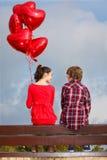 De valentijnskaarten houden van Stock Afbeeldingen