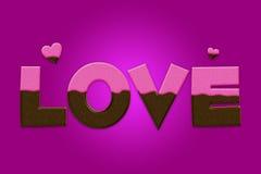 De valentijnskaarten houden van Concept Stock Fotografie