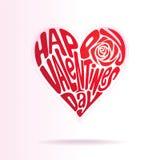 De valentijnskaarten houden van Vorm Stock Afbeeldingen