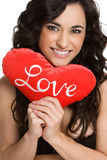 De valentijnskaarten houden van Vrouw Stock Afbeelding