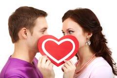 De valentijnskaarten kijken Stock Foto