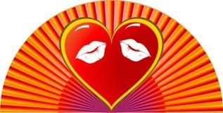 De valentijnskaarten ontwerpen Malplaatje vector illustratie