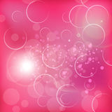 De valentijnskaarten vatten met zoete roze backgrouds samen Royalty-vrije Stock Fotografie