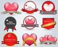De valentijnskaartendag glanst Verlichtingsachtergrond Vectorde Royalty-vrije Illustratie
